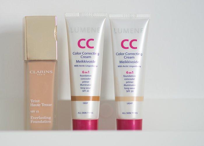 Clarins Everlasting VS Lumene CC Cream