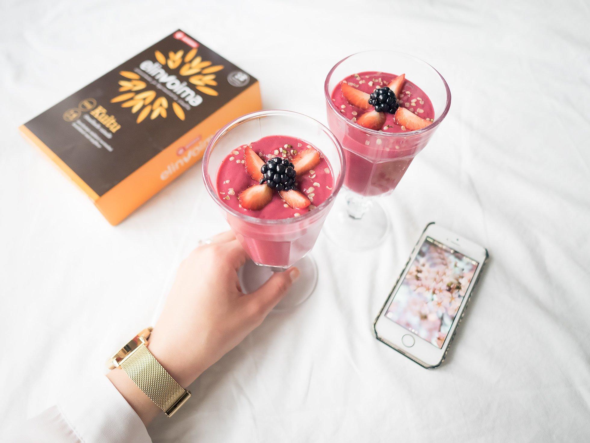 3 x smoothie vatsan hyvinvointiin, Bioteekin Elinvoima