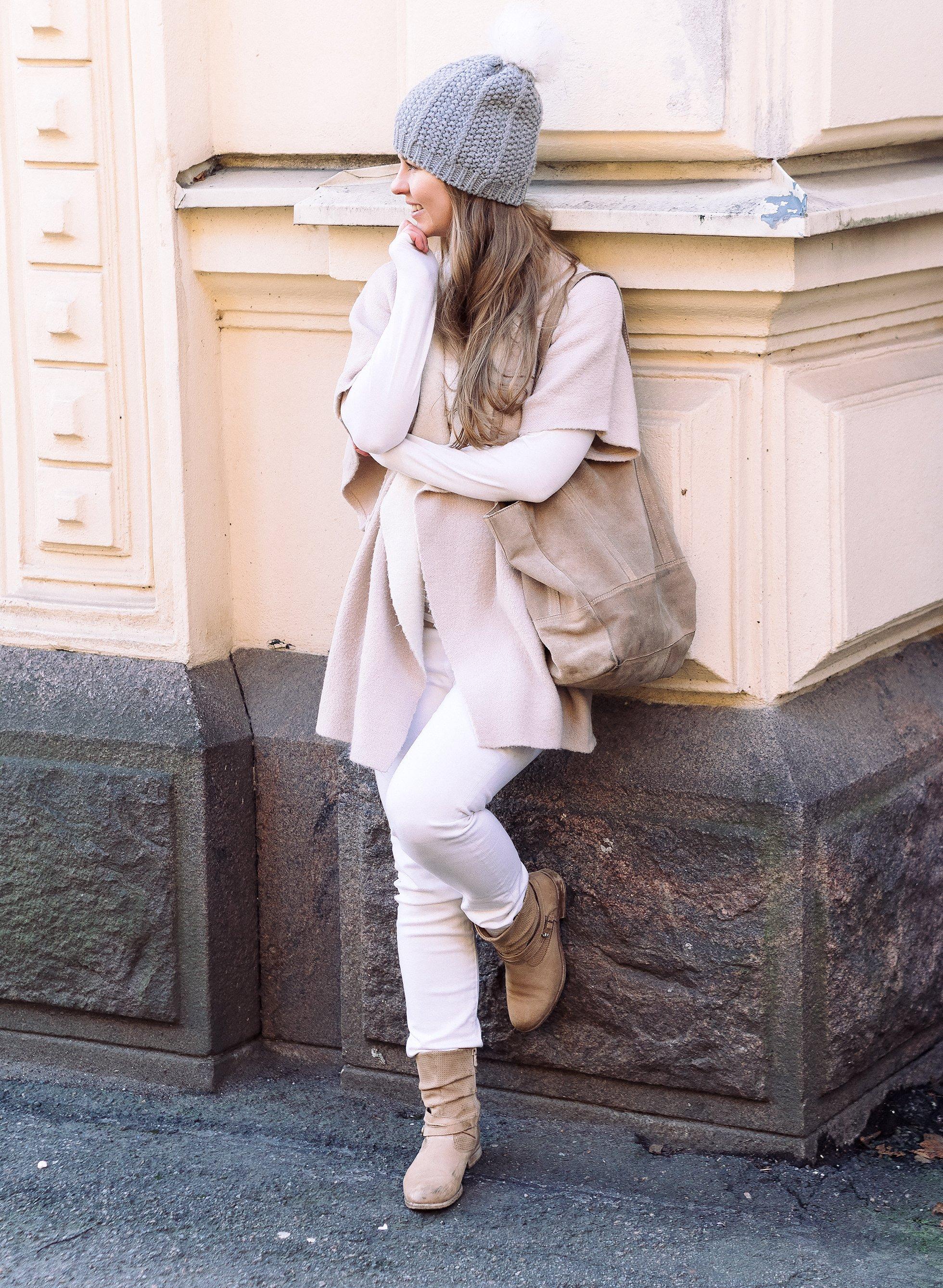 Valkoiset farkut ja talviaurinko