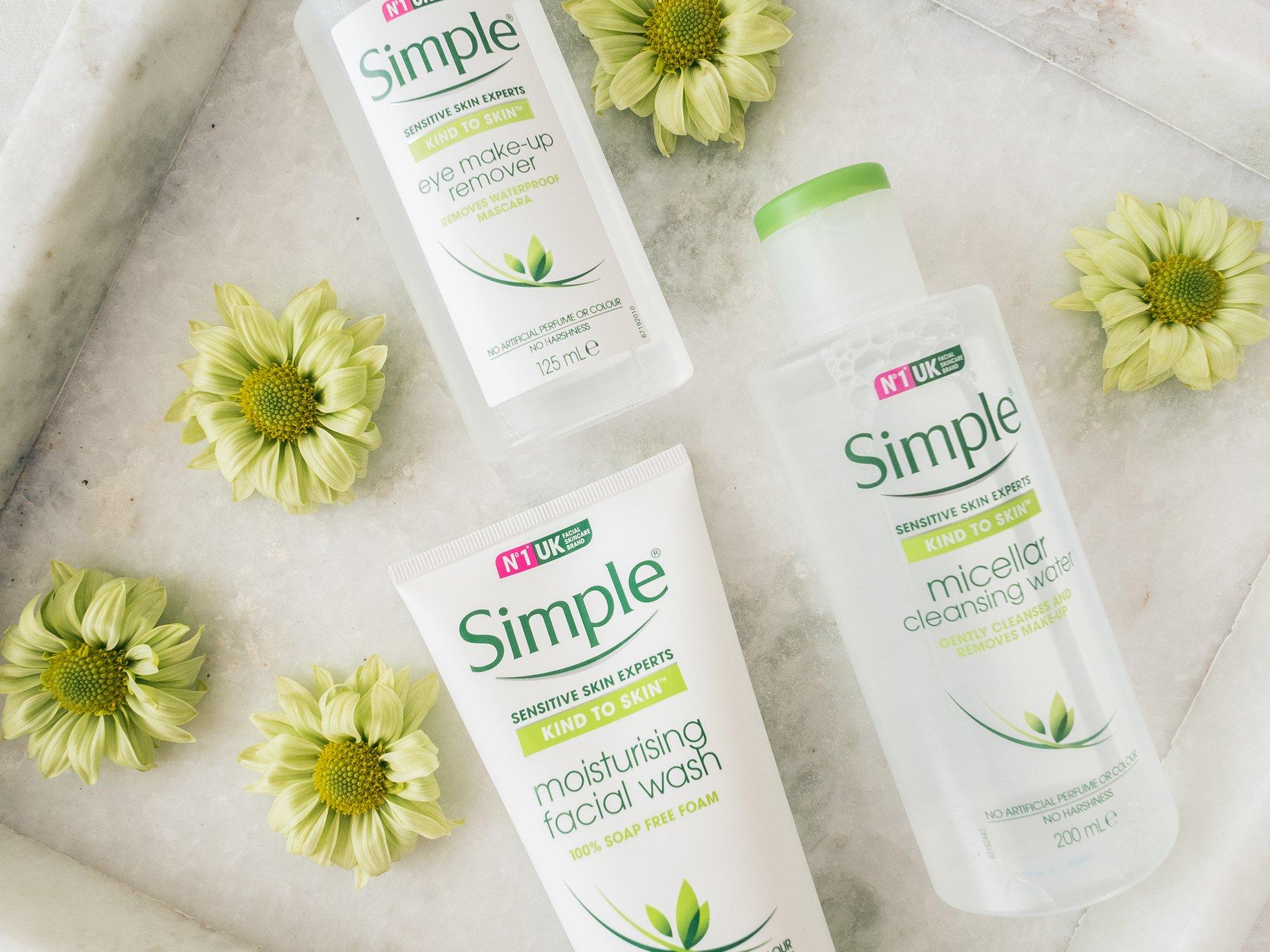 Hellävarainen ihonhoitosarja Simple testissä @monavisuri