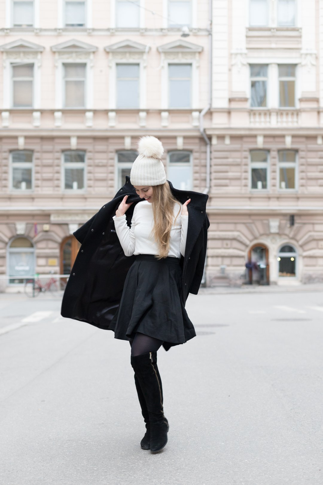 Winter outfit in Finland